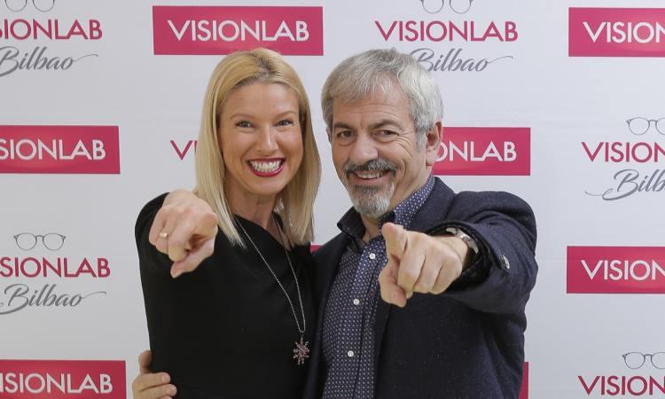 Anne Igartiburu y Carlos Sobera en Visionlab Bilbao