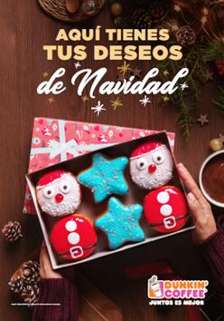 Cartel Dunkin Coffee Navidad 2018